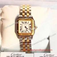 Buy cheap New 2018 Panthere De Cartier Watch Replica | 2-Tone Yellow Gold Small Model from wholesalers