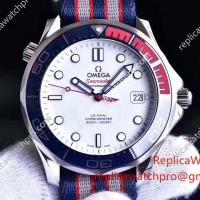 Buy cheap New 2017 Omega Commander's 007 James Bond Nato Band Watch - Seamaster Diver 300m from wholesalers
