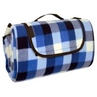 China Blue Checkered Picnic Blanket on sale