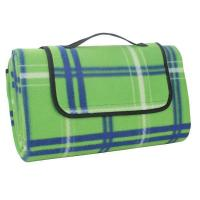 China Green Checkered Picnic Blanket on sale
