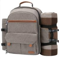 Buy cheap Picnic Backpack For 4 Person With Bottle holder and Fleece Blanket from wholesalers