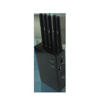 Buy cheap 5 band 4G portable cell phone signal jammer from wholesalers