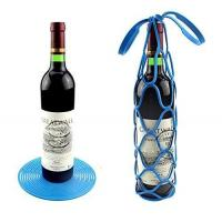 Buy cheap Silicone Wine Bottle Travel Carrier Mesh Tote Bag Basket from wholesalers