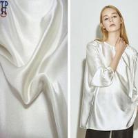 Buy cheap solid plain dyed 100% mulberry silk satin fabric white from wholesalers