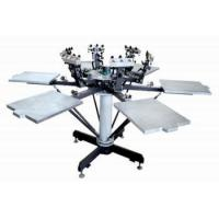 Buy cheap Print Machine 6 color 6 station manual t-shirt screen printing machine from wholesalers