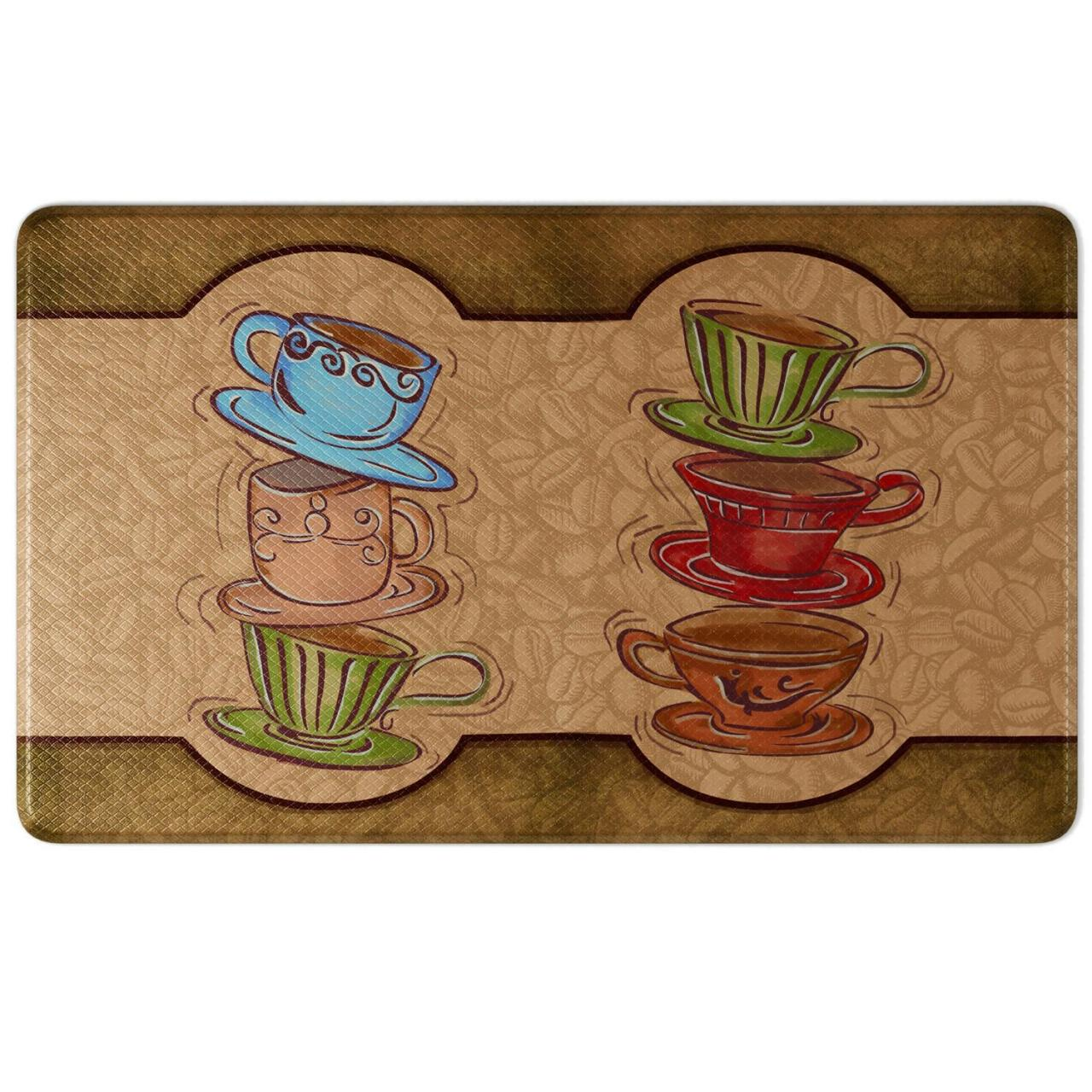 Buy cheap Y10007 - Anti-Fatigue Comfort Kitchen Mat, Coffee Cup Party Style 18 X 30 from wholesalers