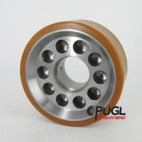 Buy cheap CPUGL high load capacity stacker crane polyurethane load wheel with has filler hole for AS/RS from wholesalers
