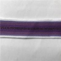 Buy cheap Stripes Glitters Polyester Knitted Tape Flat from wholesalers