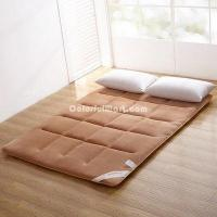 Buy cheap Champagne Brown Flannel Japanese Floor Futon Mattress Sleeping Pad Tatami Mat Japanese Bed from wholesalers