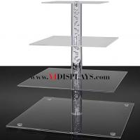 Buy cheap 4 tier square cupcake display from wholesalers