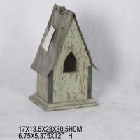 Buy cheap French country style small wooden handing garden antique bird house from wholesalers