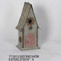 Buy cheap Small wooden handing garden antique simple bird house from wholesalers
