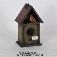 Buy cheap Wooden shabby chic garden decorative bird house-Ason from wholesalers