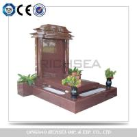 Buy cheap Competitive Products for European Market Cheap Nice Red Granite Tombstone Gravestone from wholesalers