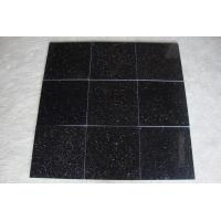 Buy cheap India Black Galaxy Granite Polished Tiles from wholesalers