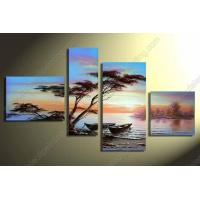 Buy cheap 4pcs 100% hand draw abstract modern oil painting on canvas Africa landscape AB127 from wholesalers