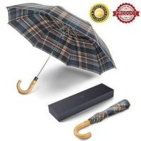 Buy cheap Saiveina Auto Open Fast Dry Travel Umbrella with Wood Crook Handle product