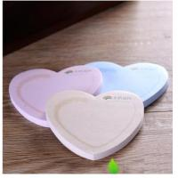 Buy cheap 7.5*7.5cm Earth Friendly Adhesive Notes -Heart Shaped (35/50/100pages),Different shaped sticky notes from wholesalers
