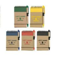 Buy cheap Mini Recycled Spiral Notebook with Matching Colored Pen 100% recycled chipboard from wholesalers