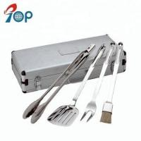 Buy cheap Hot sell 4 pieces BBQ accessories stainless steel Grill BBQ tool sets from wholesalers