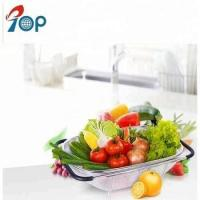 Buy cheap Stainless steel multifunction telescopice sink drain basket fruit basket from wholesalers