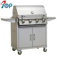 Buy cheap Stainless Steel 4 Burner Propane Gas BBQ Grill on Cart from wholesalers