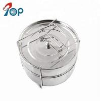 Buy cheap Amazon hot sell stainless steel 2 Tier steamer insert pans with knob lids from wholesalers
