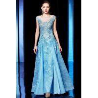 Buy cheap Light Blue Applique Cap Sleeve A-Line Ball Dresses A9018 from wholesalers