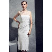 Buy cheap Ivory Round neck Sequins Knee length Cocktail Dress RY1202 from wholesalers