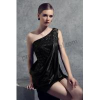 Buy cheap Black One-shoulder Flowers Satin Short Dress RY1201 from wholesalers
