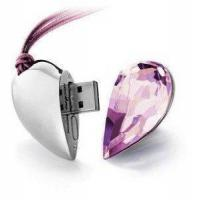 Buy cheap Crystal Flash Drive Crystal USB Transparent Heart from wholesalers