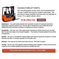Buy cheap Doosan Forklift Parts from wholesalers