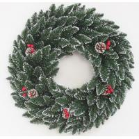 Buy cheap White Dot Bullethead With Pine Cone Wreath from wholesalers