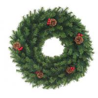 Buy cheap Christmas ornaments PVC Pine Cone Wreath from wholesalers