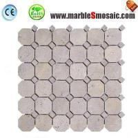 China Octagon White Travertine Mosaic on sale