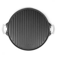 Buy cheap Round Cast Iron Griddle Pan for BBQ with Enamel Coating from wholesalers