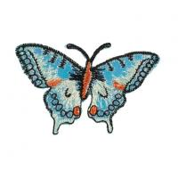Buy cheap Metallic Gold Foil PU Embroidered Patch Butterfly from wholesalers