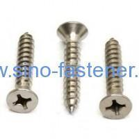Buy cheap Fasteners Cross Recessed Flat Countersunk Head Tapping Screws Abstract of ASME B18.6.4 1998 from wholesalers