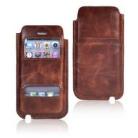 China PU/TPU leather back cover case iPhone 5S/5C Crazy Horse Pattern PU Smart Pouch case on sale