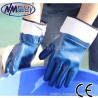 Buy cheap NMSAFETY blue nitrile labor protection gloves from wholesalers
