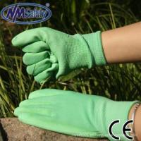 Buy cheap NMSAFETY 13 gauge green pu coated green nylon work gloves pakistan from wholesalers