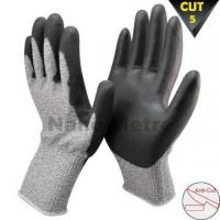 Buy cheap NMSAFETY 13 gauge glass fibre level 5 cut resistant glove cut prevent pu glove from wholesalers