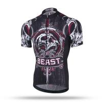 Buy cheap Skull Short Sleeve bike Jersey Shirt Sport Bicycle cycling Clothing from wholesalers