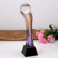 Buy cheap Laser Engraved Crystal Trophy from wholesalers