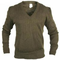 Buy cheap Military V Collar Wool Acrylic Fibres Sweater from wholesalers