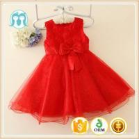 Buy cheap good quality embroidered girls party red dresses, kids dress birthday gift,flower girl dress floral from wholesalers
