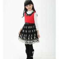 Buy cheap winter baby winter woolen clothing , girls party dresses woolen dress for winter from wholesalers