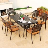 Buy cheap cast alu.chair and table cast aluminum dining set 7 piece from wholesalers