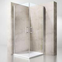 Buy cheap Semi-frameless Corner Entry Double Column Hinged Door Square Shower Cabin from wholesalers