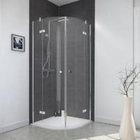Buy cheap Quadrant Double Hinged Door Shower Cabin Frameless Design from wholesalers